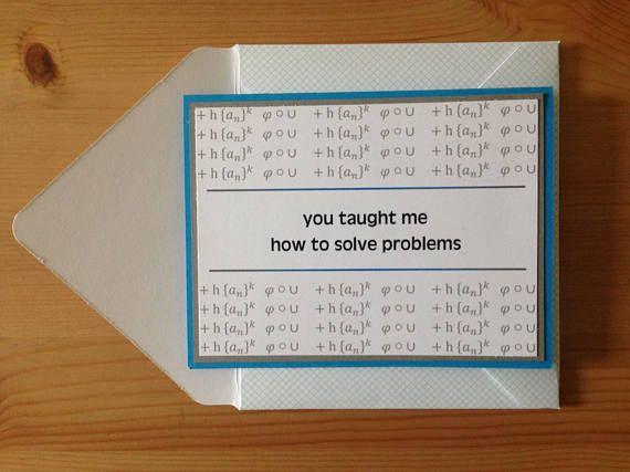 Math Teacher Thank You Card Math Thank You Teacher Etsy Teacher Thank You Cards Teacher Thank You Math Teacher