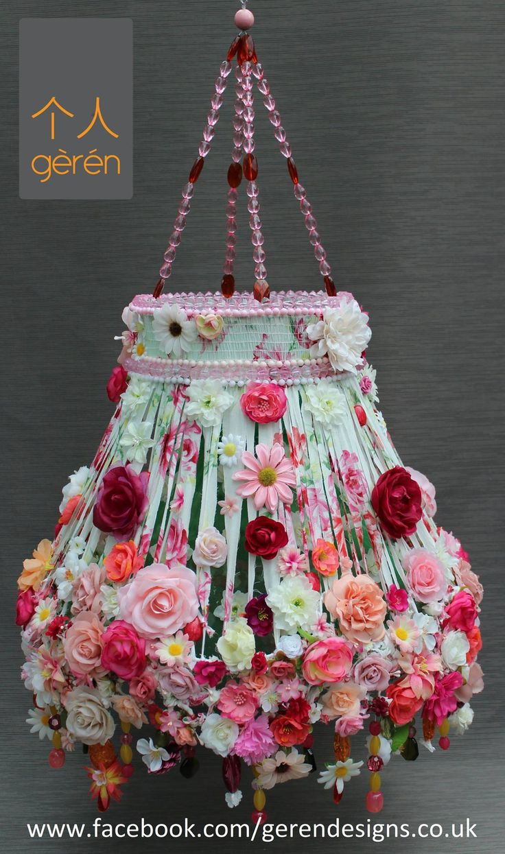 728 best shabby chic lampshades images on pinterest for Ideas for decorating lamp shades