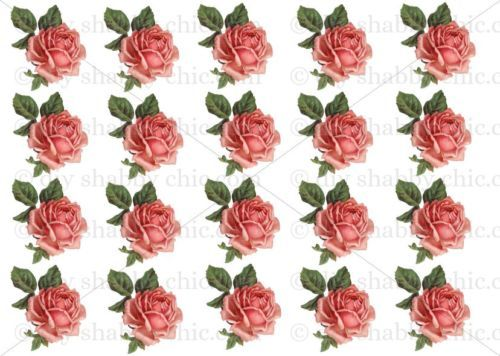Good Furniture Decal Diy Shabby Chic Image Transfer Vintage Valentines Pink  Roses Red