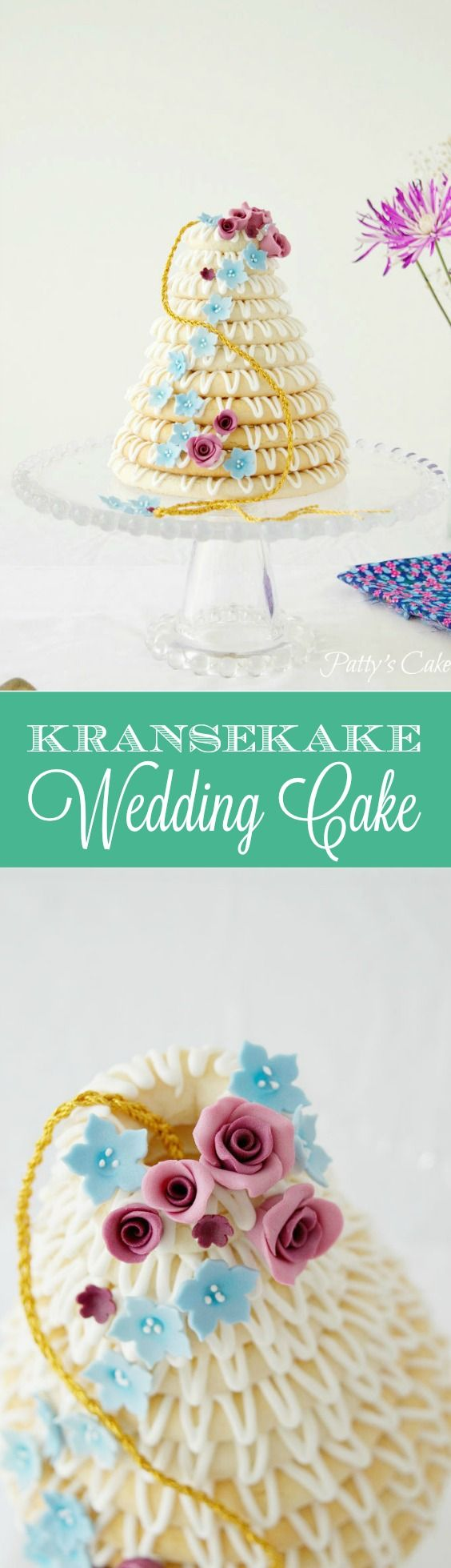 Are you brave enough to put this kransekake in your wedding? Danish typical wedding cake that you will love it. Gluten-free. (English recipe included. Típico pastel de bodas danés. Sin gluten. Yo la usé para una fiesta temática de Rapunzel.
