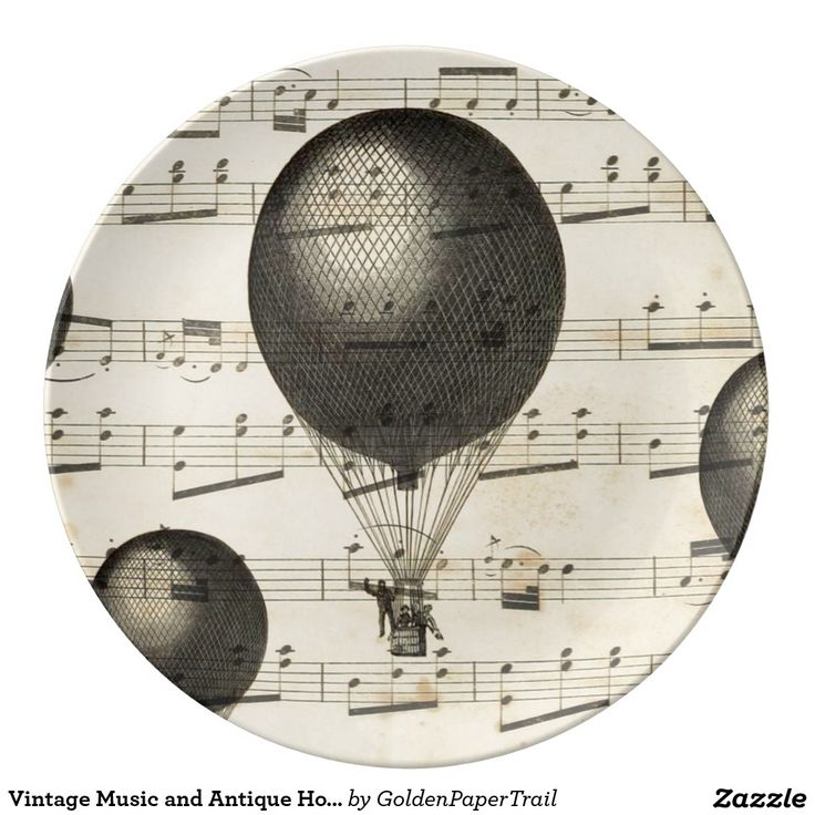 Vintage Muziek en de Antiek Ballons van de Hete