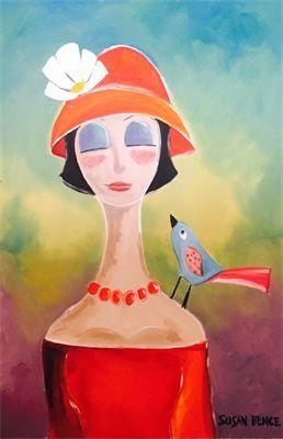 """Susan Bence, Twin II : Oil, 20"""" x 30"""""""