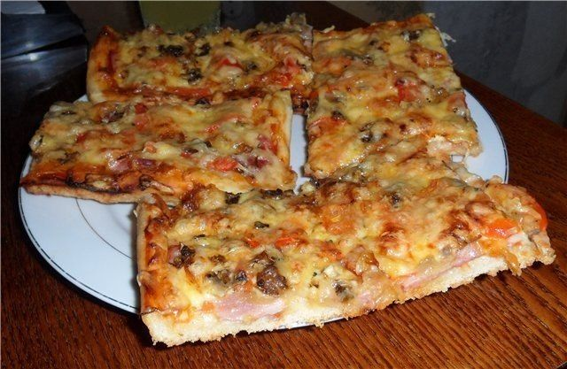The recipe for a delicious homemade pizza