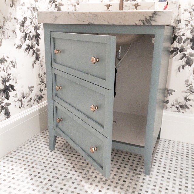 Faux fronts on vanity