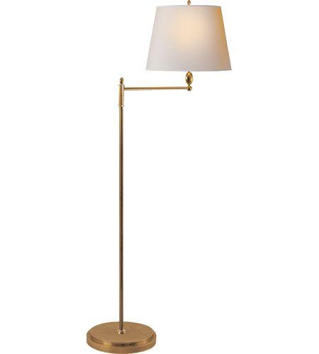 Visual Comfort Thomas OBrien Paulo 1 Light Decorative Floor Lamp in Hand-Rubbed Antique Brass TOB1201HAB-NP #visualcomfort #lightingnewyork #lighting
