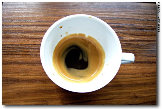 Cafe Ristretto: Concentrated shot using just ½ - 1 oz of water, resulting in a dense, extremely aromatic shot