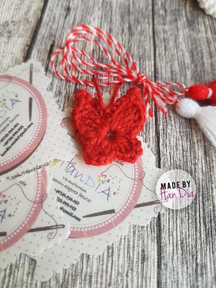 Mărțișor croșetat | Crocheted butterfly🌷🌸🌹🌼 #crosetate #martisor #martisoare #1martie #martisoarecrosetate #handmadeisbetter #handmade  #handia #handiamade #smallcrochet #crocheted #crochetart #fluturas #butterfly #crochet #crochetersofinstagram #crosetatebucuresti