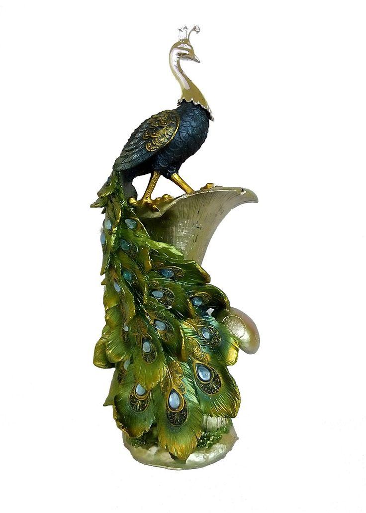 Marvelous Art Work Peacock Vase By Returnfavors