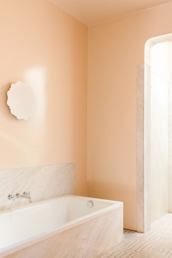 84 best decor inspiration images on pinterest fire for Peach bathroom set