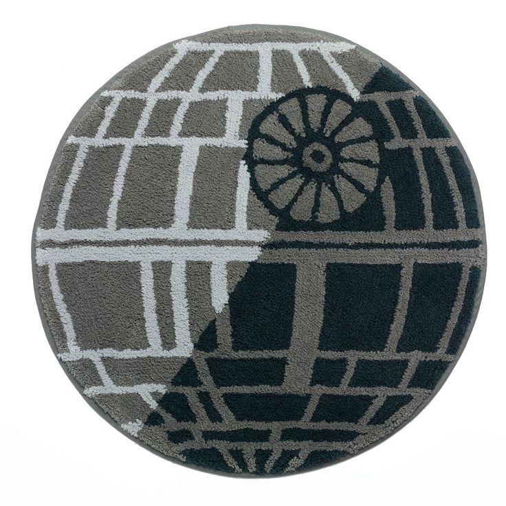 Star Wars Home Death Star Bath Rug, Blue