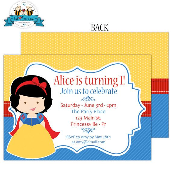 Cute+Snow+White+Birthday+Party+Invitation++by+LilFacesPrintables,+$9.95
