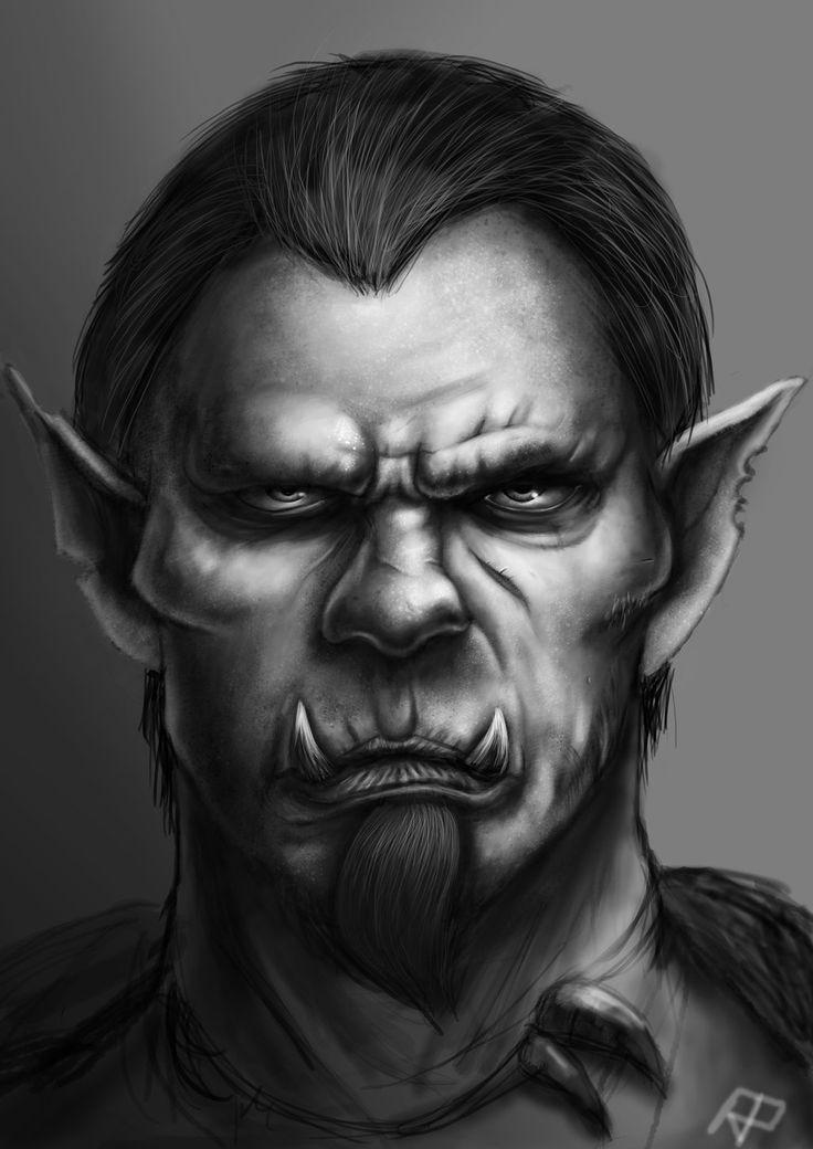 Half Orc Portrait 17 Best images ...