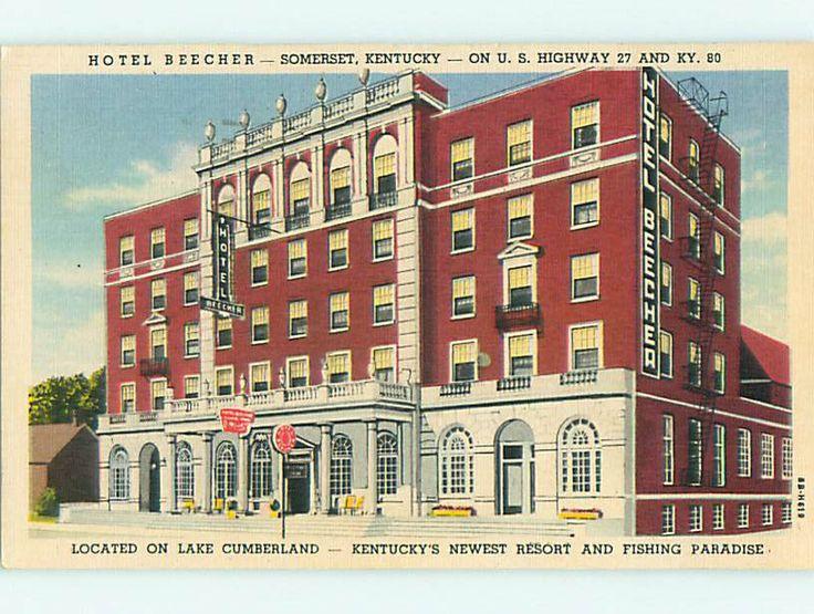 Linen Beecher Hotel Somerset Kentucky Ky U8827 Ebay Pinterest And