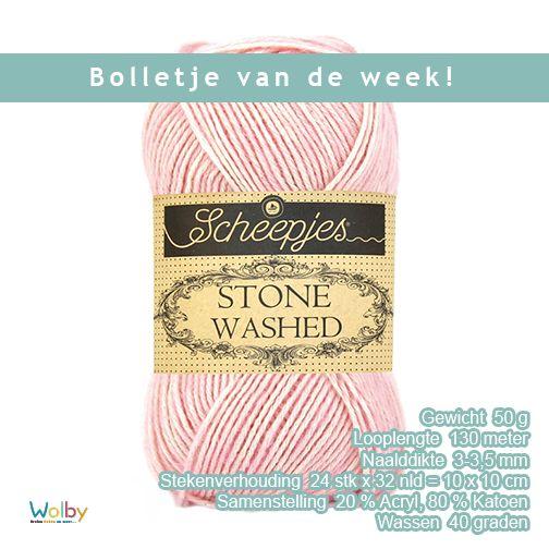 Scheepjes Stone Washed is een draad met een jeans-achtige look. Het is geschikt om mee te haken en te breien en geeft je werk een stoer en robuust uiterlijk. Haak of brei een knuffel, amigurimi, kleding of een deken. Het is sterk, soepel, vormvast en goed wasbaar.