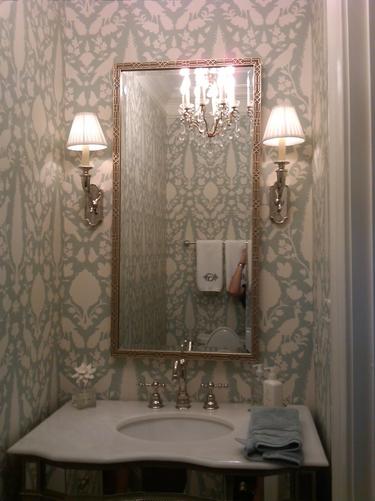 Powder room bathrooms pinterest powder room for Powder room light fixtures