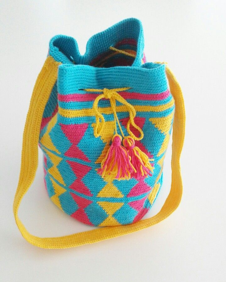 mochila wayuu  elemeği çanta