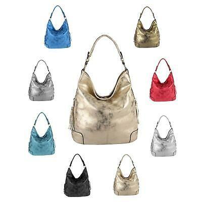 Photo of LADIES BAG SHOPPER Hobo Bag Shoulder bag Shoulder bag Handbag Metallic: …
