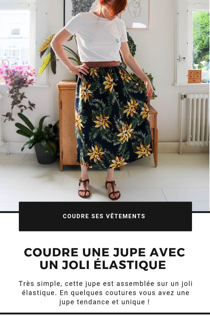 Coudre une jupe avec un joli élastique DIY Mondial Tissus jupe facile.