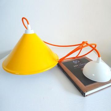 Retro Pendant Lamp Yellow, £43, now featured on Fab. Elluminy
