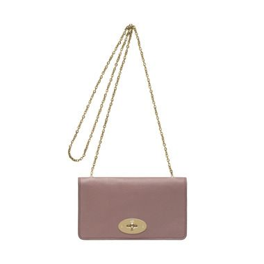 Mulberry - Bayswater Clutch Wallet in Dark Blush Glossy Goat Leather