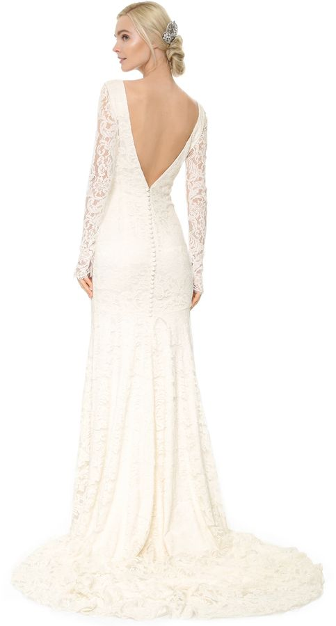 Theia Nicole Lace Gown at shopbop.com #affiliatelink