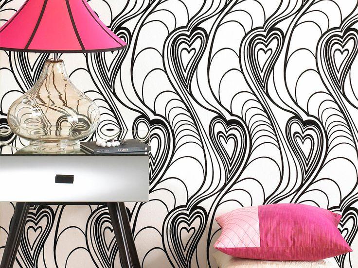 Carta da parati in bianco e nero http://atutto.net/1xg3our #ArredareConIlBiancoENero, #ArredoBiancoENero, #BiancoENero, #CartaDaParati, #CartaDaParatiNera, #CartaDaParatiScura, #CarteDaParatiDesign, #CarteDaParatiVintage, #ColoriScuriPareti, #DesignModerno, #PareteDivisoria