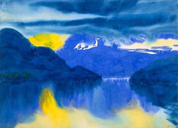 Emil Nolde (1867-1956) - Lake Lucerne, 1930