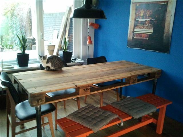 Breien MET haken en ogen: Pallet tafel