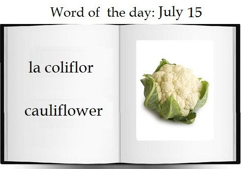 Cauliflower in Spanish |   The Spanish word of the day is: la coliflor  #Spanish #vocabulary #vegetables