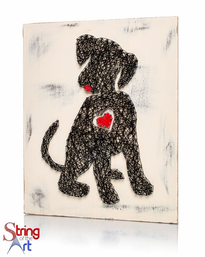 If you have a cute little puppy back home then I know you and your puppy will love this adorable Puppy Heart String Art Kit! String it together so you can proudly hang it up on the wall to show everyo