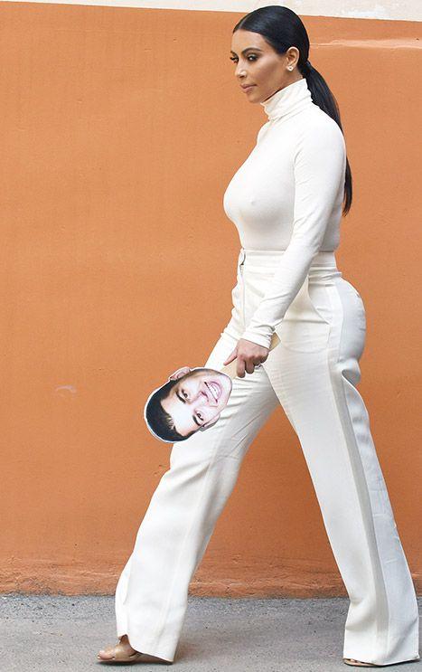 Kim Kardashian Carries Rob Kardashian Cut-Out in Armenia: Photos - Us Weekly
