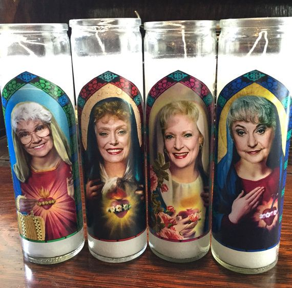 Thank you for being a friend! Take your favorite Miami ladies out to the lanai for cheesecake and worship them as the holy saints they are.   This Golden Girls Prayer Candle set makes a wonderful gift for when you need someone to see that the biggest gift is from you. And let us know if you want a card attached that says Thank you for being a friend. Lovingly Photoshopped and printed on high quality paper, then affixed to unscented 8 tall glass candles. ***  If your order is a gift, let me…