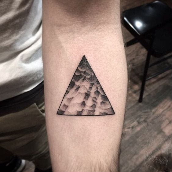 Triangular glyph by F. Smith