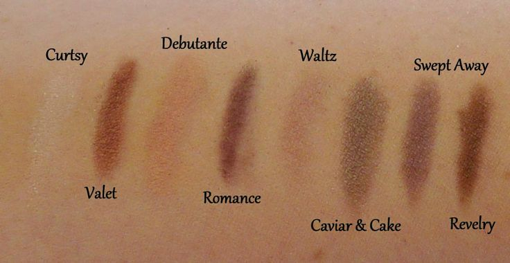 Swatches of Bare Minerals An Affair to Remember Palette