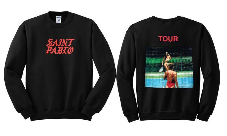 Kim Kardashian Saint Pablo Kanye West Sweatshirt Twoside