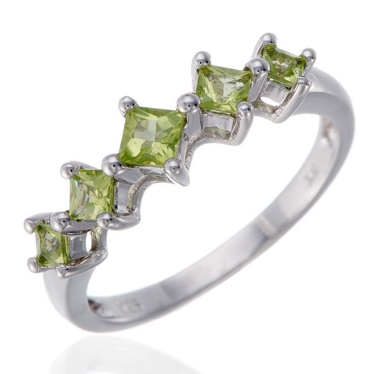 Natural Peridot Stone  Solid 925-sterling-silver Ring