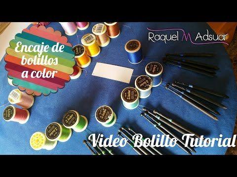 Bolillear con hilos de colores. Bolillotutorial Adsuar - YouTube