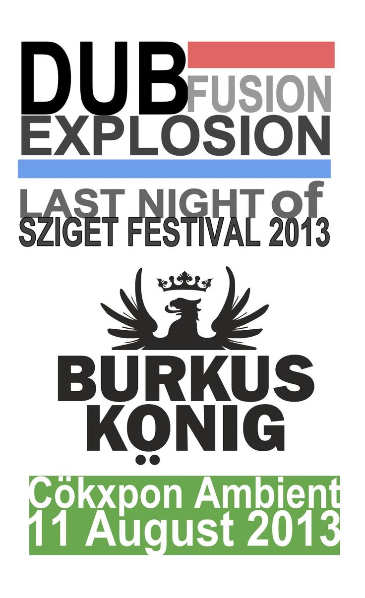 Scatch of SZIGET 2013 gig's flyer by MP