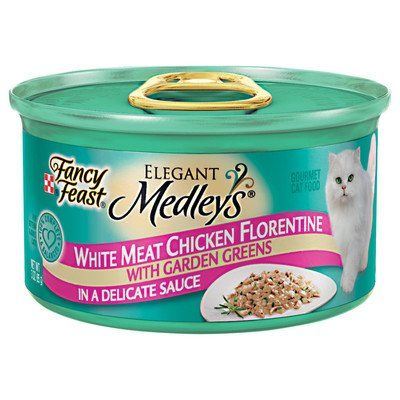 Elegant Medley Chicken Case Florentine Cat Food (Case of 24) ** You can find out more details at the link of the image. #CannedCatFood