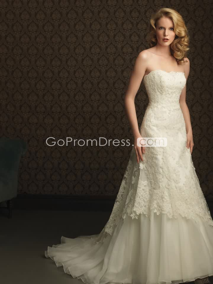Graceful Lace sexy A line Wedding Dresses