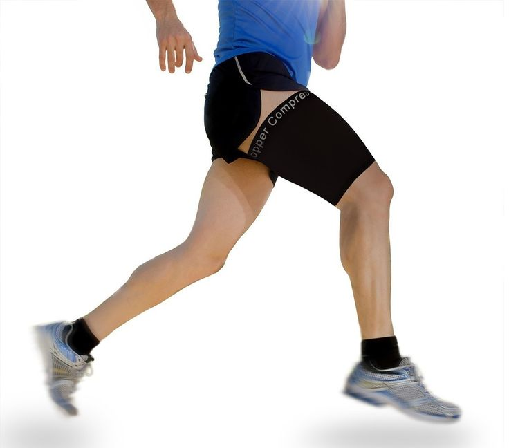 Copper Compression Thigh Sleeve