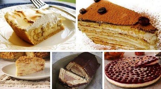 Торты из печенья — 5 лучших рецептов Рецепт 1: Торт из печенья банановый Описание: Очень вкусный торт! Сочетание сметаны и бананов делает его вкус нежным, а на его приготовление уходит так мало времени, что можно делать его хоть каждый день и подавать в качестве десерта или на завтрак малышам. Ингредиенты: 1 кг не соленого крекера; …