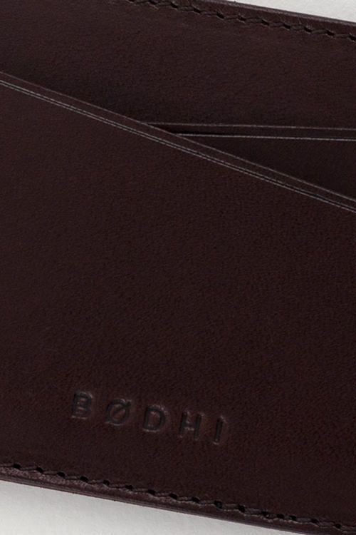Leather Card Holder | Mahogany Red | Made by Bodhi   #leather #accessories #slim #wallet #cardholder #slimwallet