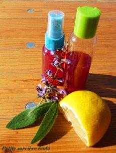 Recette de spray cheveux longs à la sauge et au citron - après-shampoing maison - cosmétique DIY - démélant