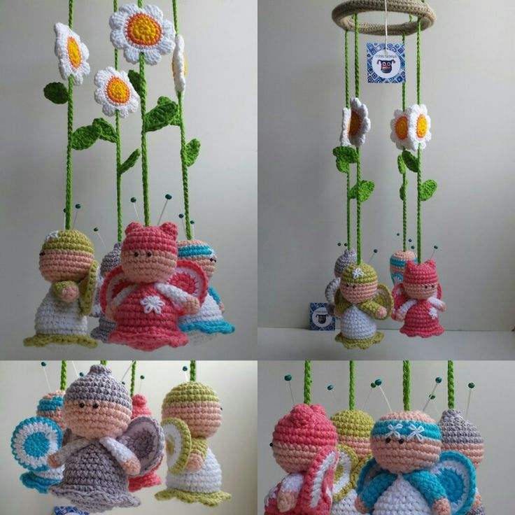 baby crochet mobile Tutitas Tejedoras <3