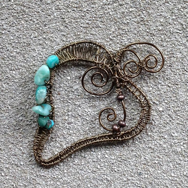 Bronze and Turquoise nuggets ianke ByZiza