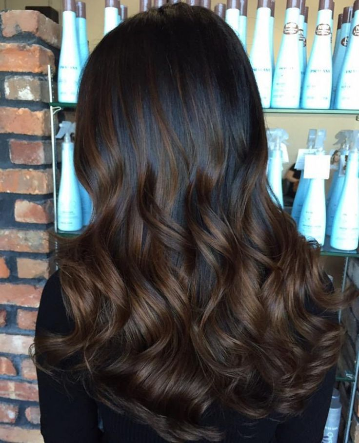Brown Balayage in black natural color!! It is simply the best to try this fall!! Have a look <3