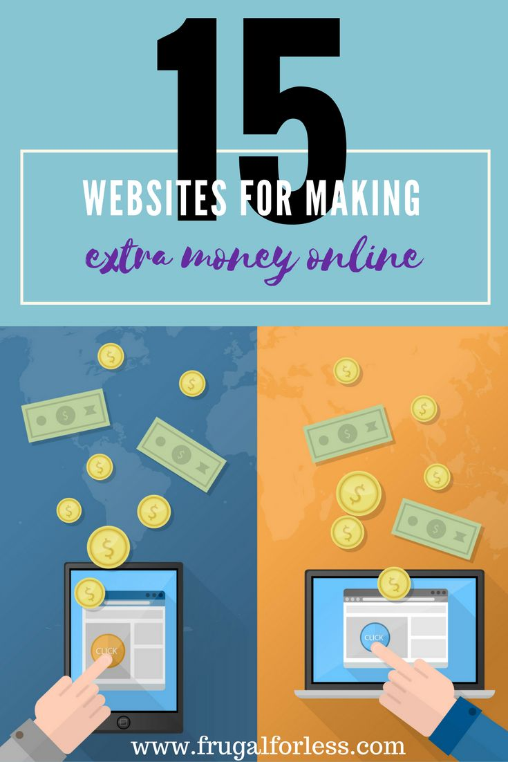 15 Money Earning Websites To Earn Extra Cash For Free In 2017 – Frugal For Less | Frugal Living and Make Money From Home