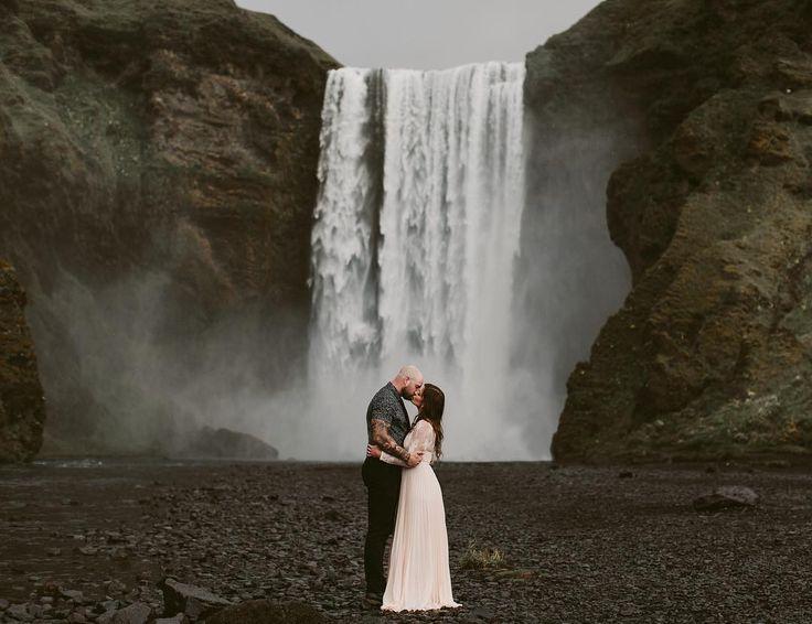 Iceland Waterfall Elopement  | Brandon Scott Photography