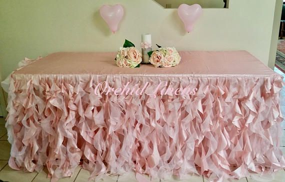 Curly Ruffle Tablecloth Curly willow tablecloth